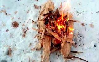 Как разжечь костёр в зимнем лесу