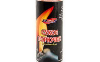 Гарантированный источник огня — сухое горючее