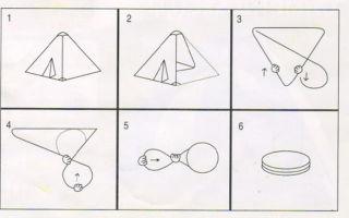 Как собрать палатку восьмеркой